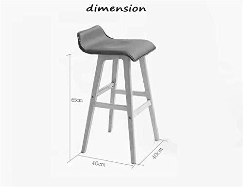 Dark Brown Counter (JKL Lygdn Wooden Chair High Stool Breakfast Stool Barstool for Kitchen Home & Commercial Dark Brown,Sit Height 65cm)