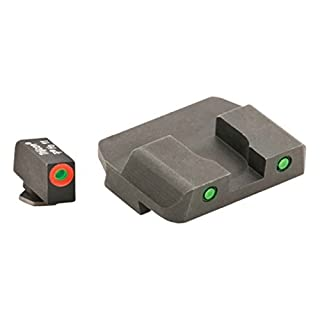 AmeriGlo Spartan Tactical Operator Front/Rear for Glock 42 and 43 Sight, Green/Orange by AmeriGlo