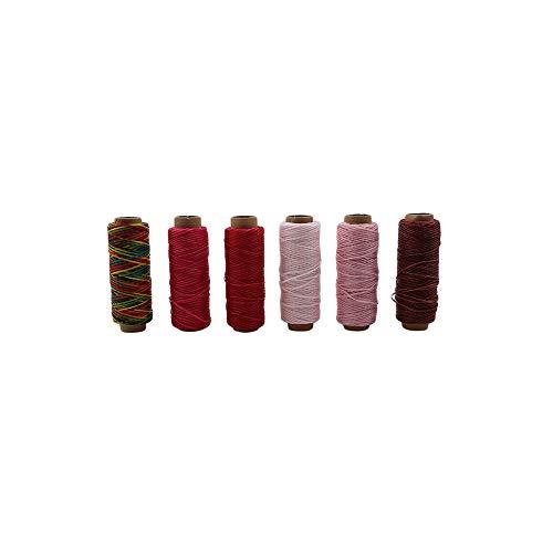 Hand Gewebt Leder (PGZXLL Dauerhaft gewebter Flacher Wachsfaden für DIY Leder Hand-Stitching Sewing Craft Waxed Line)