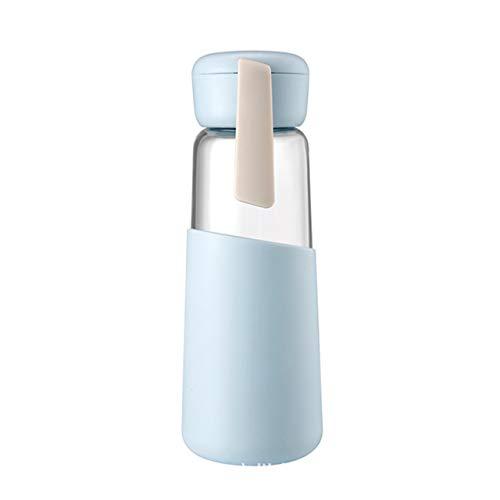 Longhnll Sportflasche, Glas Silikon Seil Sportbecher - Student Cup Männer und Frauen - 400 ml Einheitsgröße blau - Wasser-dampf-cup