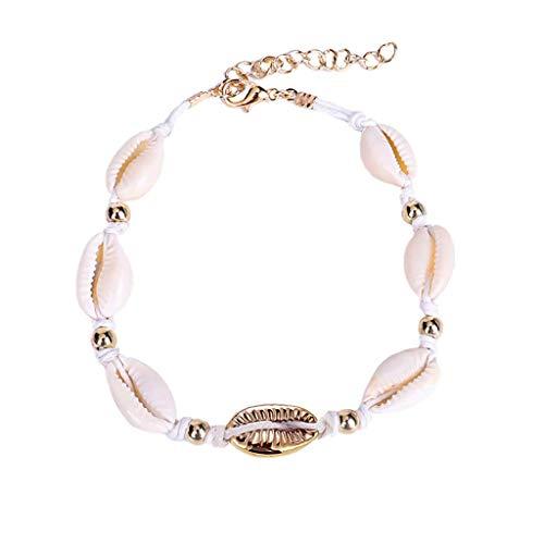 DQANIU❤️❤️Böhmen Retro Natürliche Süßwasser Muschelseil Halskette & Conch Marine Series Muschelkette, Verstellbare Muschelkette Armband Handmade Böhmen Beach Summer Jewelry