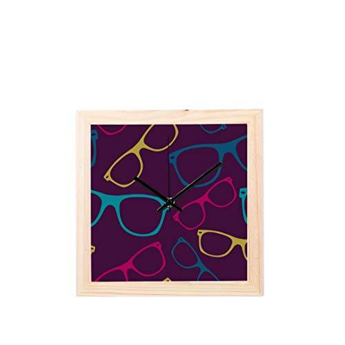 Wietops Coole Mode Sonnenbrillen Nicht tickt Platz Stille Holz Diamant Große Display Digital Batterie Wanduhren Malerei Zifferblatt Für Küche Kind Schlafzimmer Home Office Decor