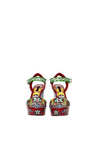 CZ0074AB0448S643 Dolce&Gabbana Compensée Femme Cuir Verni Multicouleur Multicouleur