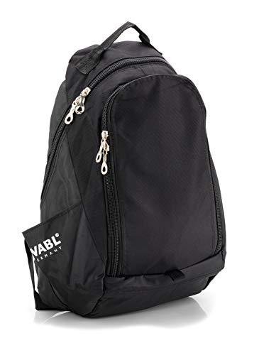 Mochila Acolchada para Deportes y Tiempo Libre, Compartimento para Laptop - Notebook de 15 Pulgadas - 24 litros (Negro)