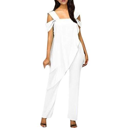 0bac90b78f4cf7 Ansenesna Hosenanzug Damen Hochzeit Lang Asymmetrisches Elegant Jumpsuit  Frauen Große Größen Einfarbig Overall