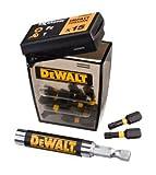 DEWALT DT70522T-QZ - Juego de 16 piezas de impacto para atornillar con guía magnética compacta. Puntas de atornillar de 25mm: Pz2 x 6, T15 x 3, T20 x 3, T25 x 3. Guía magnética compacta.