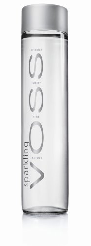 Voss SPARKLING Wasser in Glasflasche 0,8 Liter