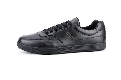 Prada Herren Sneakerschuhe, Leder, knöchelhoch, Schwarz, Schwarz (schwarz), (42 EU) - Prada Schwarz Leder