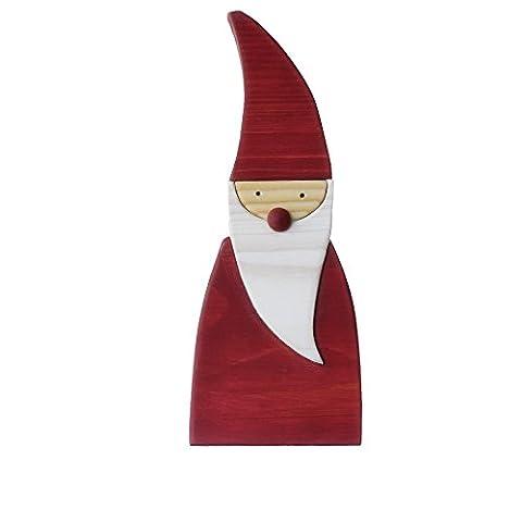 Tomte, Weihnachtsmann rot aus Holz, Größe: L