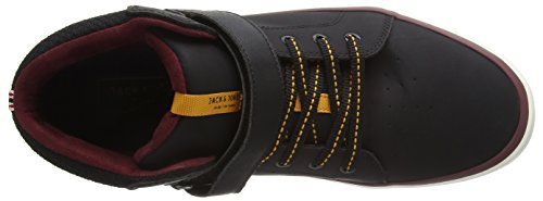 Jack & Jones Jfwbullet Mixed Mid Sneaker Anthracite, Baskets Basses Homme Noir - Schwarz (Anthracite)