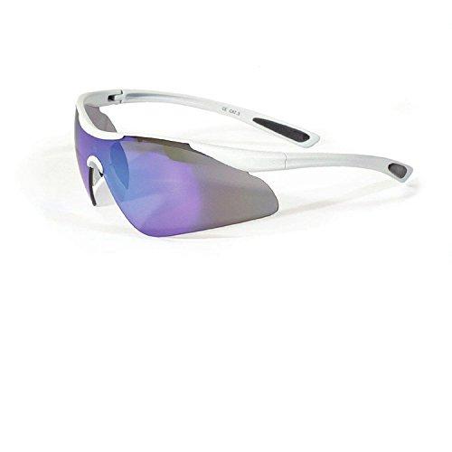 Casco Sportbrille SX-30 Polarized Sonnenbrille Fahrrad Brille Ski Snowboard, 09.1200., Farbe weiß