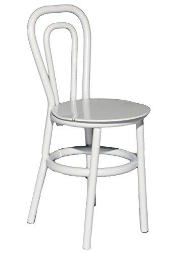 alles-meine.de GmbH 3 Stück: Stühle / Bistrostuhl / Gartenstühle - Weiß - aus Metall - Miniatur...