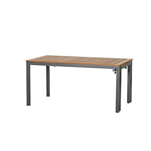 Siena Mybalconia 254801 Geneva Table Extensible Structure Aluminium Anthracite 160 x 90 x 74,5 cm