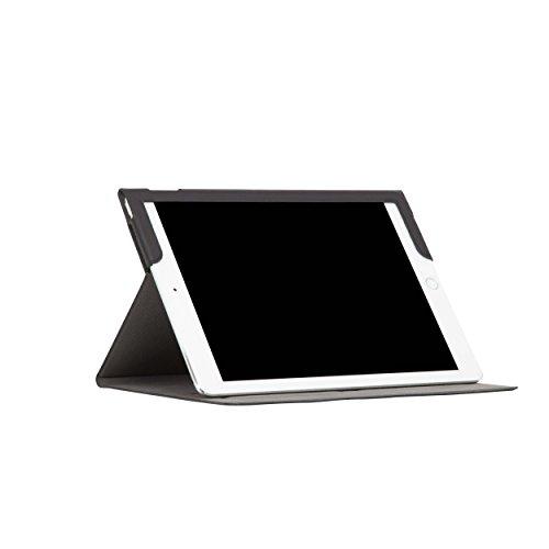Knomo 92-080-BLK Full Wrap Leder Folio Tasche für Apple iPad Pro 24,63 cm (9,7 Zoll) schwarz (Full-grain-leder-tasche)