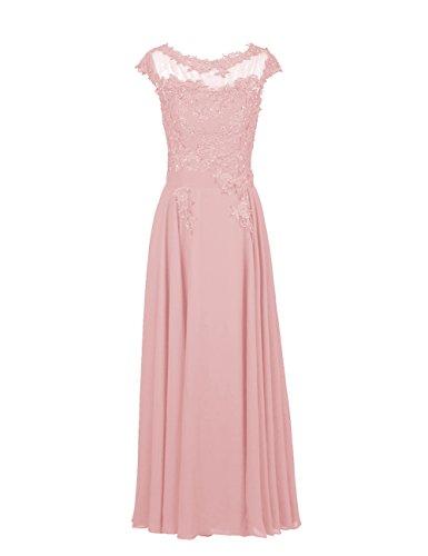 Dresstells, Robe de soirée robe de cérémonie robe de gala col rond longueur ras du sol Blush