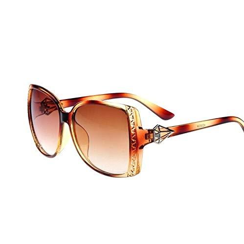 MJDABAOFA Sonnenbrillen,Vintage Spiegel Weibliche Frauen Braune Katze Auge Sonnenbrille Designer Nette Damen Sonnenbrillen Für Frauen
