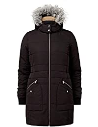 24a61f1f2b630b Cotton Traders Womens Quilted Detachable Hood Casual Padded Jacket