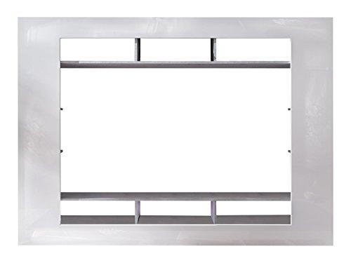 trendteam SD89535 Wohnwand TV Möbel weiss Hochglanz, Beton Industry Nachbildung, BxHxT 216x160x30 cm - 2