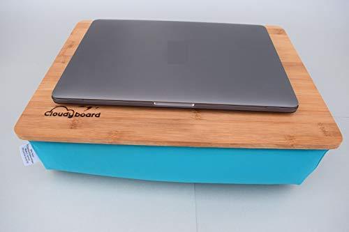 Türkis Bambus Laptopkissen Knietablett Laptray Unterlage Betttisch Notebook Laptop Tablett Bett Sofa Couch Ablage kissen