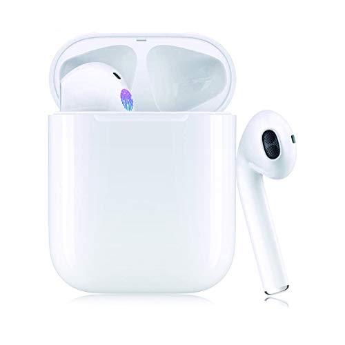 Cuffie Bluetooth Senza Fili Auricolari Bluetooth 5.0 Auricolari Wireless Sportivi in Ear con Custodia da Ricarica Microfono Resistente al Sudore 3D Cuffie per iPhone Samsung Xiaomi Huawei
