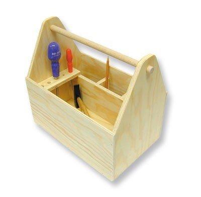 matches21 Werkzeugkiste Bausatz f. Kinder Werkset Bastelset - ab Schulstufe 6