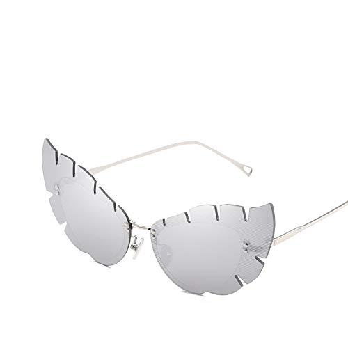YUHANGH Sonnenbrillen Damen Luxusbrillen Randlose Sonnenbrillen Fashion Vintage Metal Mirror