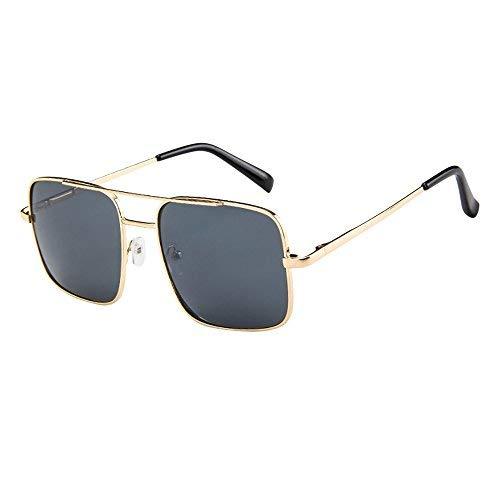 YEZIJIN Damen Herren Vintage Retro Brille Unisex Fashion Oversize Rahmen Sonnenbrille Brille Brille Brille Brille Free Size B