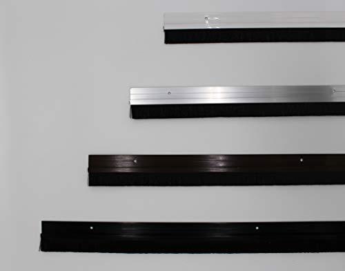 Euro Tische Türdichtung weiß L: 100 cm (kürzbar) Aluminium Bürstendichtung Zugluftstopper Türbesen Türbodendichtung