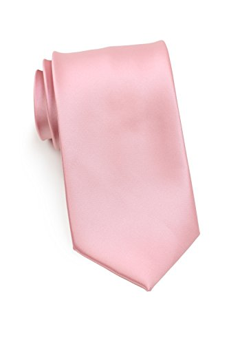 PUCCINI Schmale Krawatte, einfarbig, verschiedene Farben, Mikrofaser, Satinglanz, Handarbeit, 6 cm Slim Tie, Büro - Hochzeit - Alltag (Rosa) Design-krawatte Tie