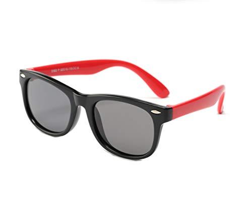 FOURCHEN Kids Polarized Sonnenbrillen Flexible Gummischutz für Mädchen Jungen Alter 3-10