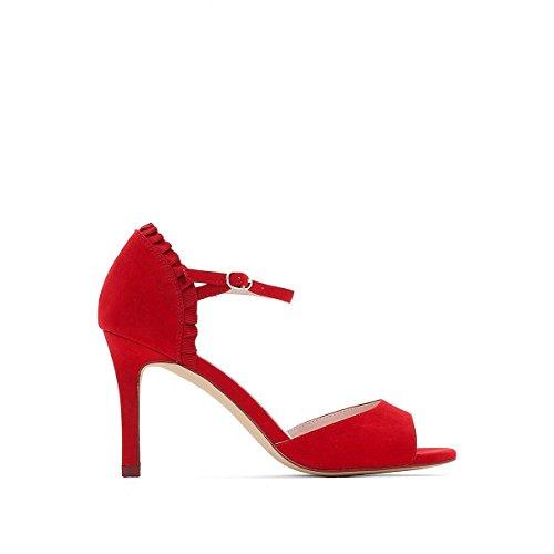 La Redoute Mademoiselle R Sandales Pour Femme Rouge Volant Detail