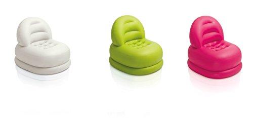 Intex aufblasbarer Sessel Luftsitz 84x99x76cm stützende Rückenlehne Pink