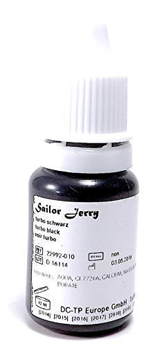 SAILOR JERRY TURBO BLACK 10ml - deutsche Tattoofarbe mit Zertifikat - INKgrafiX® IG42224 Tattoo INK Schwarz
