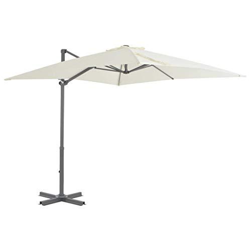 vidaXL Ampelschirm Alu 250x250 cm Sonnenschirm Gartenschirm Marktschirm Schirm