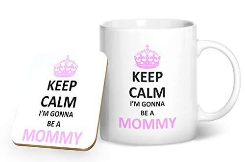 Keep calm i' m gonna be a mommy tazza e sottobicchiere abbinati-stampato tazza & sottobicchiere set regalo