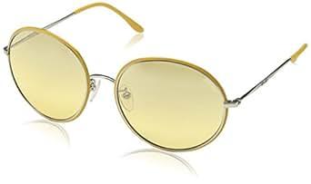 Police Women's S8976 Sunglasses, Yellow (Matt Palladium with Coloured Parts), One Size