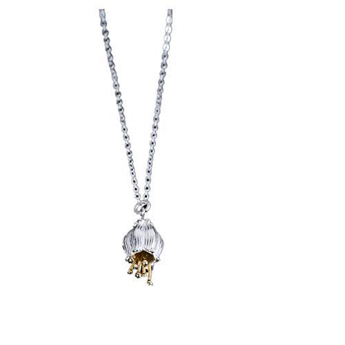 Ljia Halskette Anhänger Retro Literarische Persönlichkeit Windspiel Blume Halskette Retro Temperament Schlüsselbein Kette