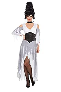 Smiffys 50943L - Disfraz de novia gótica, talla L, color blanco