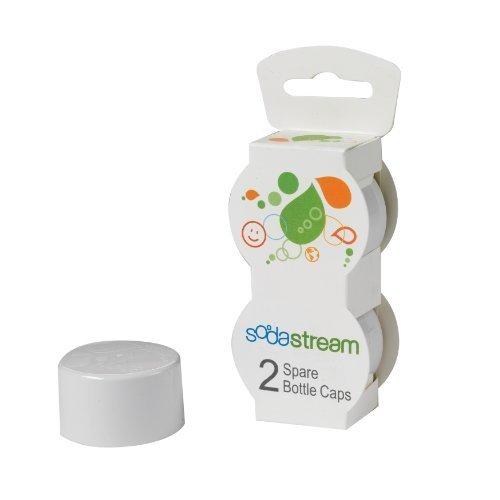SodaStream Bottle Caps, White, 2-Pack by SodaStream USA