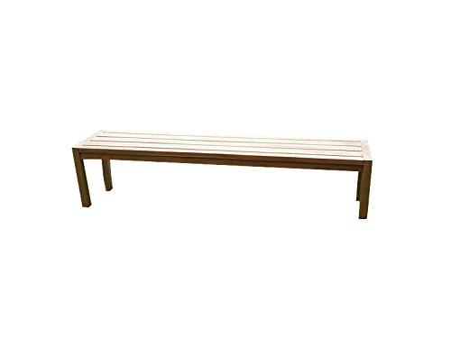 SAM Teak-Holz Gartenbank, massive Sitzmöglichkeit für bis zu 3 Personen, ideal für Garten Terrasse Balkon oder Wintergarten, ca. 180 x 45 cm [521215]