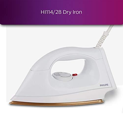 Philips HI114 1000-Watt Golden American Heritage Soleplate Dry Iron