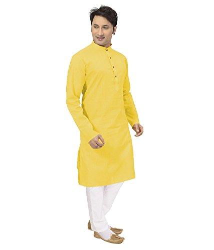 Sai-Chikan-Mens-Long-Yellow-Kurta