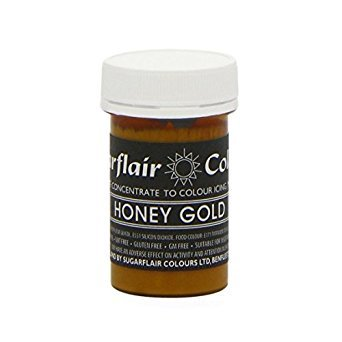 Sugarflair HONEY GOLD Pastel Paste Gel Edible Concentrated