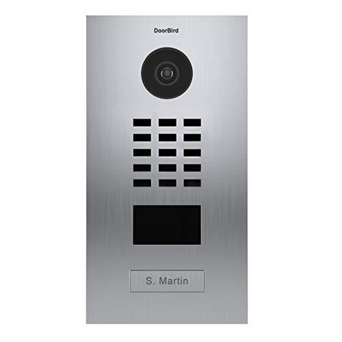 Door Bird D2101V Video-Türsprechanlage, IP mit RFID-1, Türklingel INOX-Doorbird