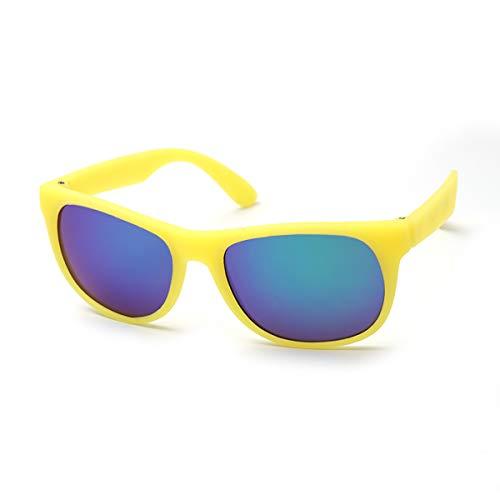 Sonnenbrille Mädchen Jungen | Farbe ändern im Sonnenlicht | 100% UV400 Augenschutz | Alter 6-12 Jahre Kinder Junior | Gelb bis grün