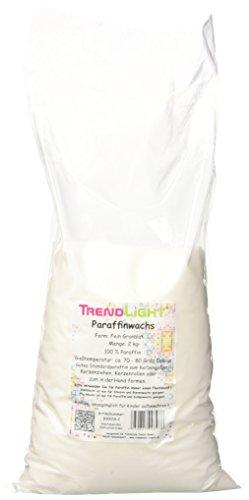 TrendLight 890018-2 Paraffinwachs rein zum Kerzen herstellen, 2 kg , weiß