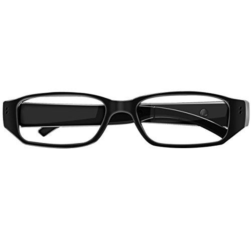 Spionkamera-Brille mit Versteckter 1080P Kamera, unterstützt bis zu 32 GB TF-Speicherkarte, modischer Videorekorder für Erwachsene und Studenten