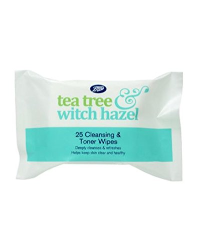 Boots Tea Tree and Witch Hazel Cleansing Wipes 25S