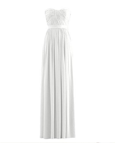 Ssyiz -  Vestito  - plissettato - Donna S6822-White