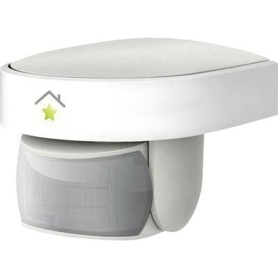 innogy SE Smart Home Bewegungsmelder (außen)/Bewegungssensor, wetterfest, steuert elektrische Geräte, in Smart Home-Haussteuerung integrierbar, bis zu 9 m Erfassungsbereich, drehbar, 10267391